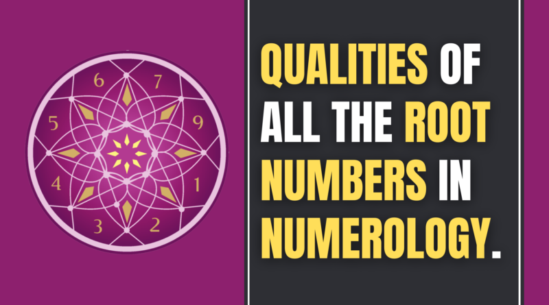 root numbers in Numerology